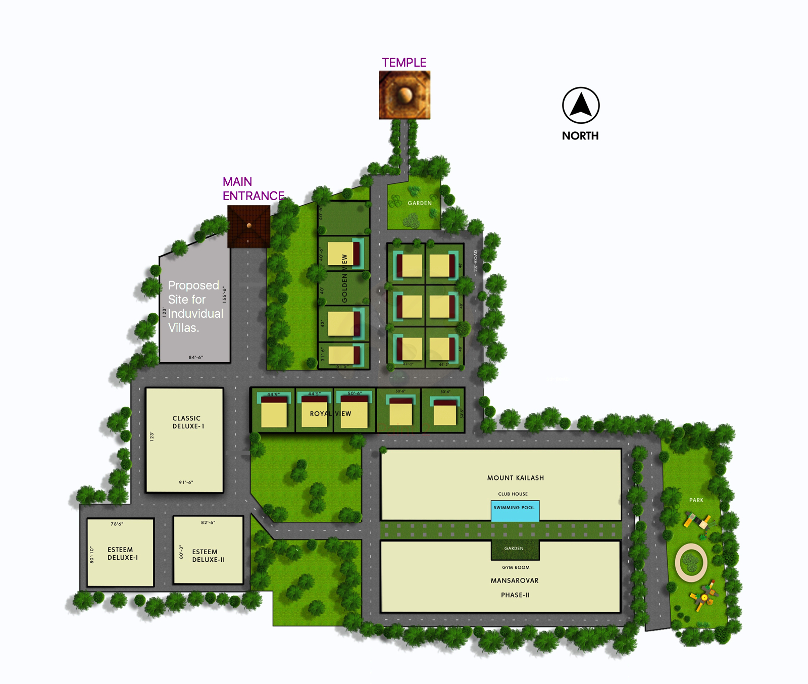 Master Plan Layout - Right House